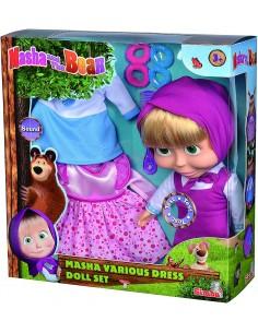 Masha Doll cm30 con 2 abiti