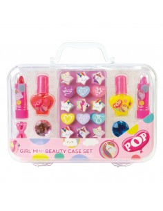 MINI BEAUTY CASE SET NEON PURP